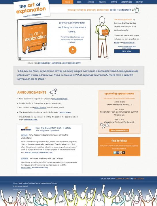 web design & development for The Art of Explanation