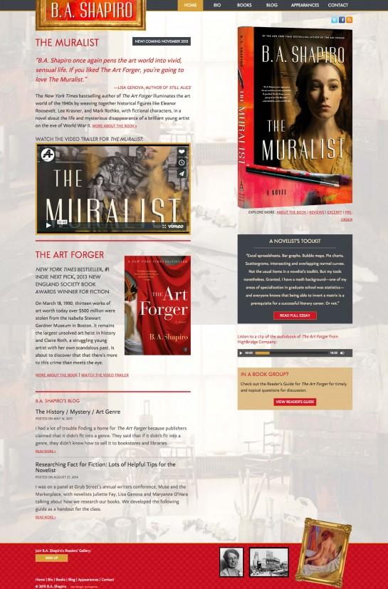 web design & development for B.A. Shapiro