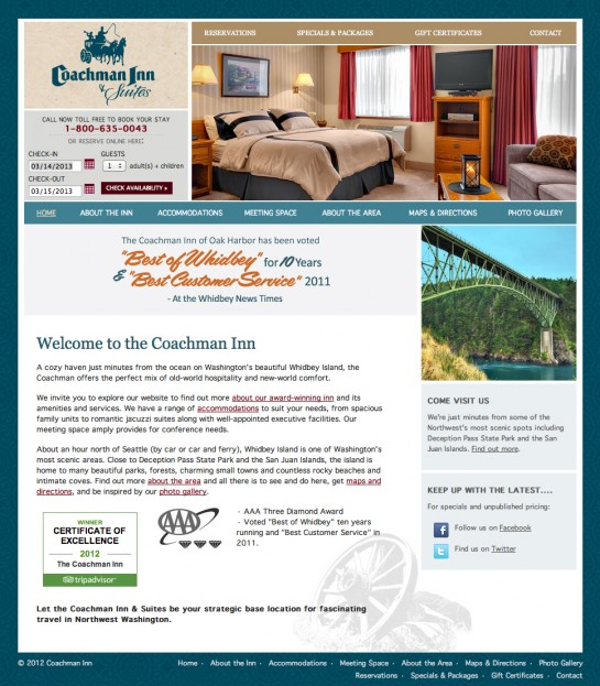 web design & development for Coachman Inn