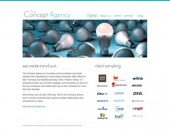 web design & development for Concept Agency