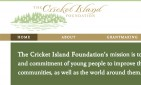 website for The Cricket Island Foundation
