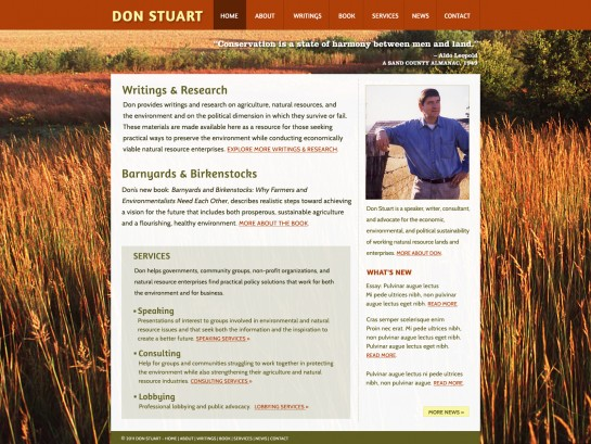 web design & development for Don Stuart