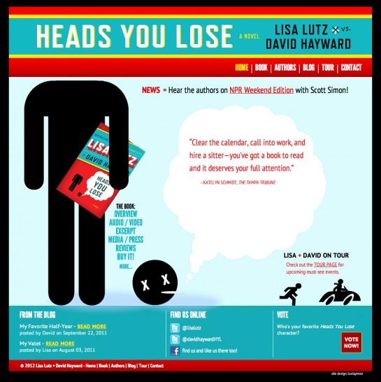 web design & development for Heads You Lose