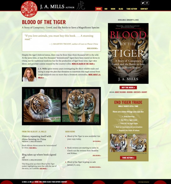 web design & development for J. A. Mills