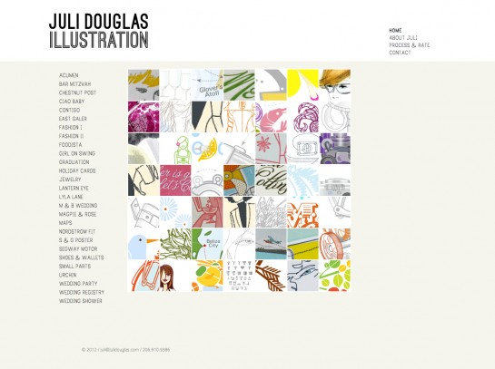web design & development for Juli Douglas Illustration