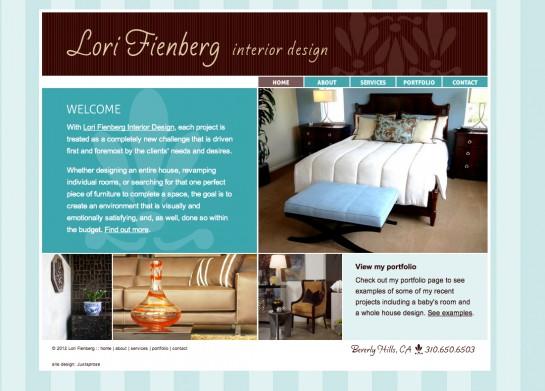 web design & development for Lori Fienberg Interior Design