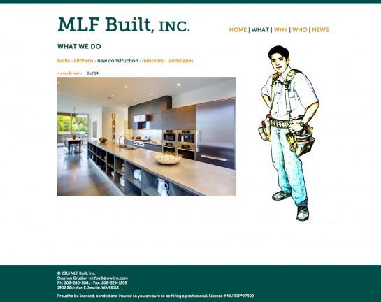 web design & development for MLF Built