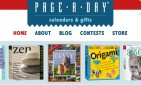 website for Page-A-Day Calendars and Gifts