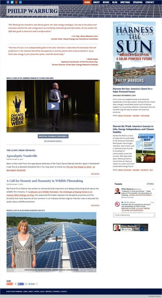 web design & development for Philip Warburg
