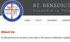website for St. Benedict Catholic School