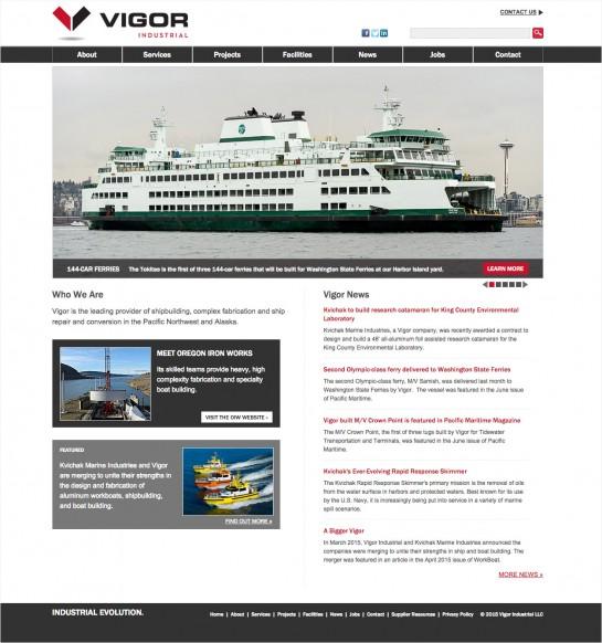 web design & development for Vigor Industrial